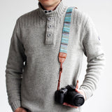 Camera Strap - Multicolor Pinstripe