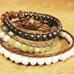 Wrapped Beaded Bracelets