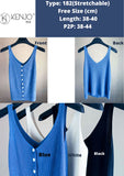 Agnes Cooling Knitted Button Tank Tops