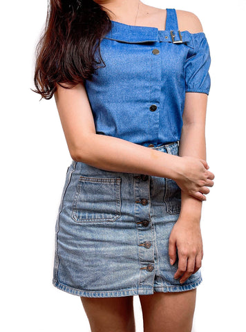 Abby Denim Top