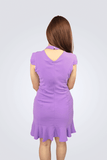 Clare Pretty Purple Casual Dress - Shopkenjo