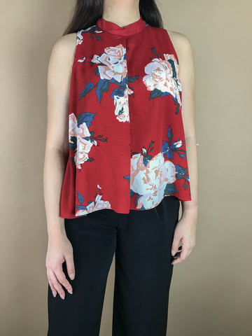 Melissa Red Flower Top