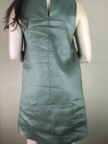 Janice Green Linen Dress
