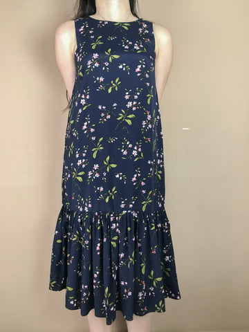 Charlotte Navy Blue Fish Tail Dress
