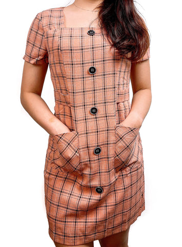 Rachel Checker Work Dress