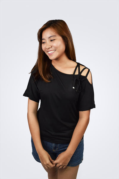 Amelia Side Strap Basic Top - Shopkenjo