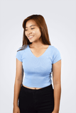 Karrie V-Back Cut Crop Top - Shopkenjo