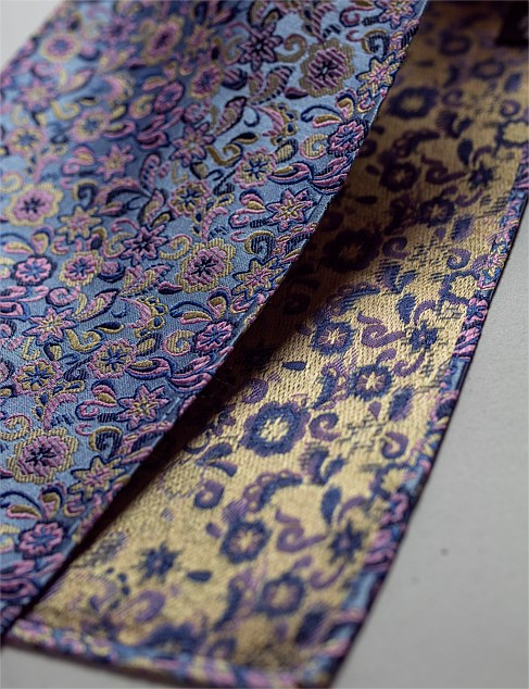 JAMES HARPER FLORAL HANK & MULTI BUTTERFLY TIE