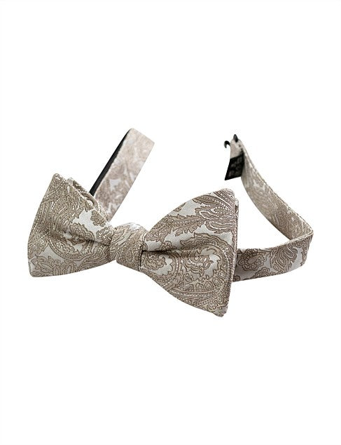 JAMES HARPER GOLD PAISLEY BOWTIE
