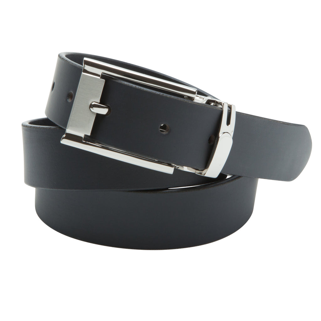 Buckle 30mm Full Grain Leather Black Belt