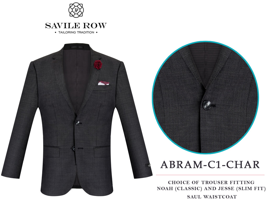 Savile Row Abram Charcoal (C1) Suit