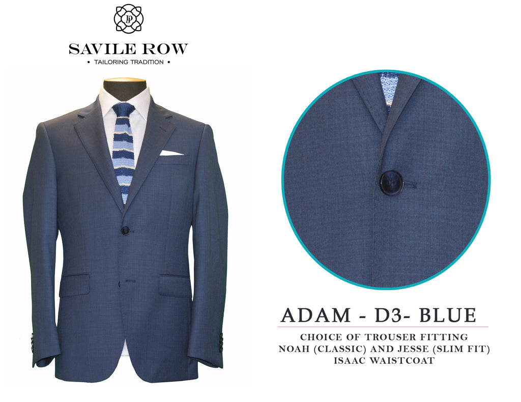 Savile Row Sharkskin Blue Suit D3