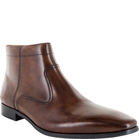 Florsheim Ballad Plain Toe Side Zip Brown Boot