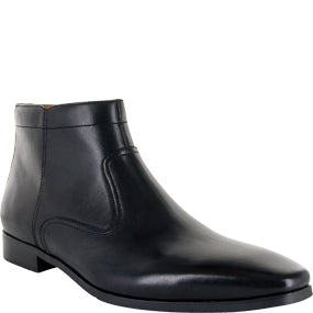 Florsheim Plain Toe Side Zip Black Boot