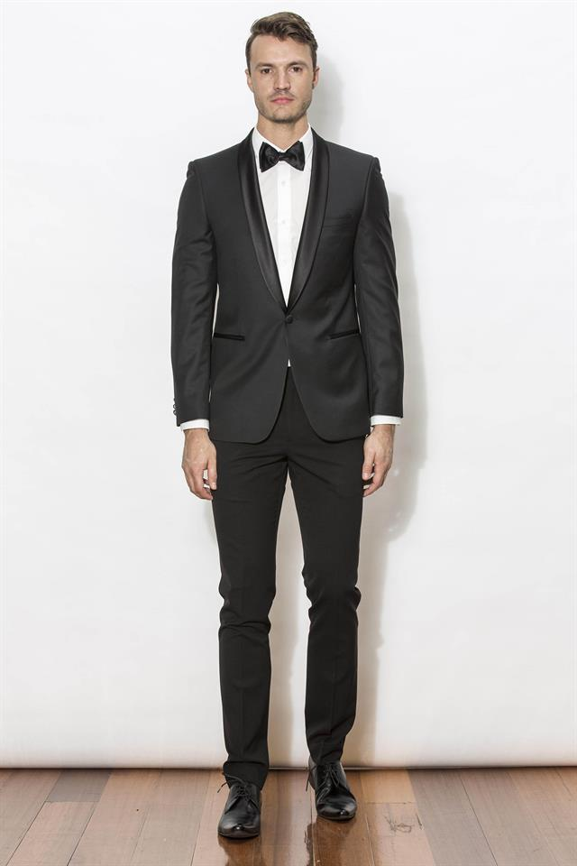 New England Dinner Suit/Tuxedo - Everton Jet Black