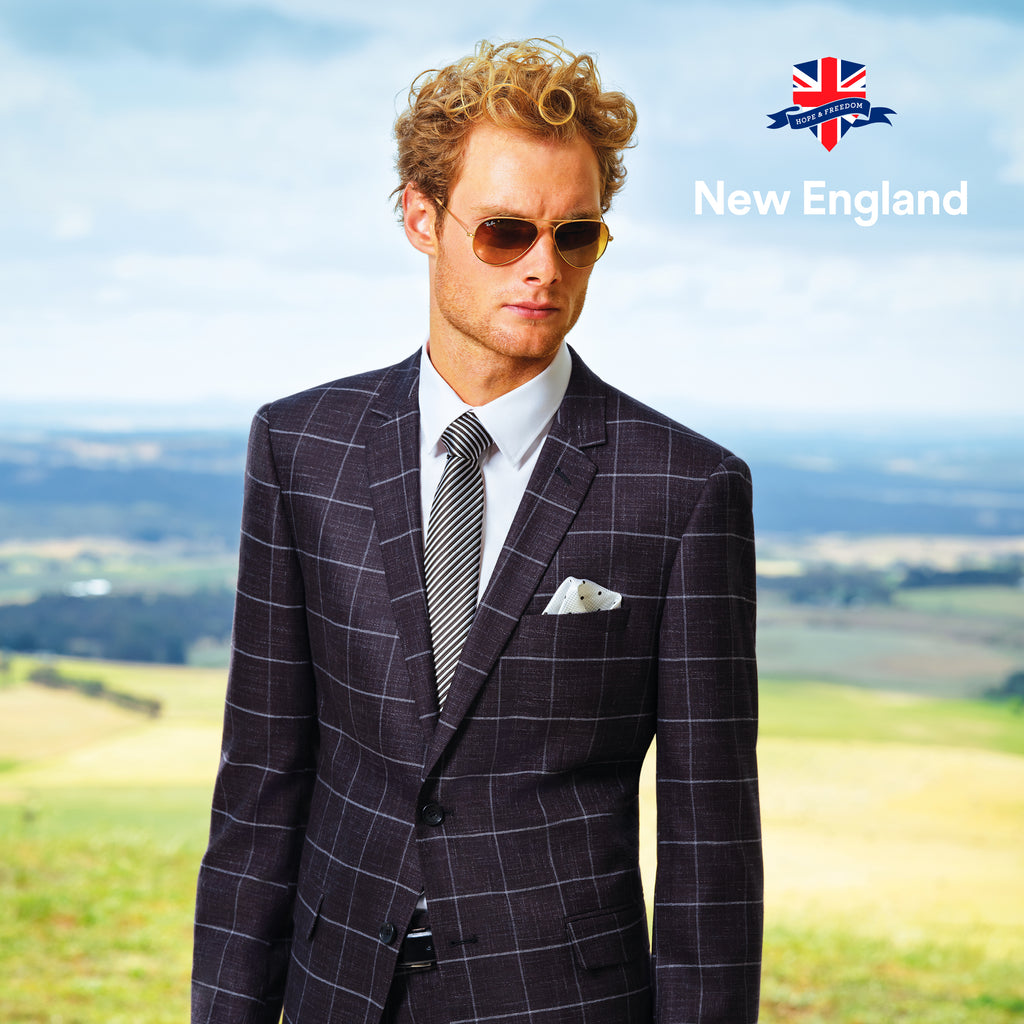 New England Penn Check Suit