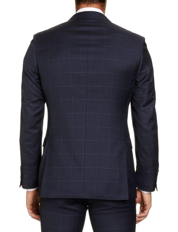 Studio Italia Florence Navy Check Suit