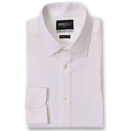 Brooksfield The Hero Cream Regular Cuff Shirt