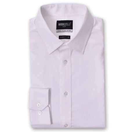 Brooksfield The Hero White Regular Cuff Shirt