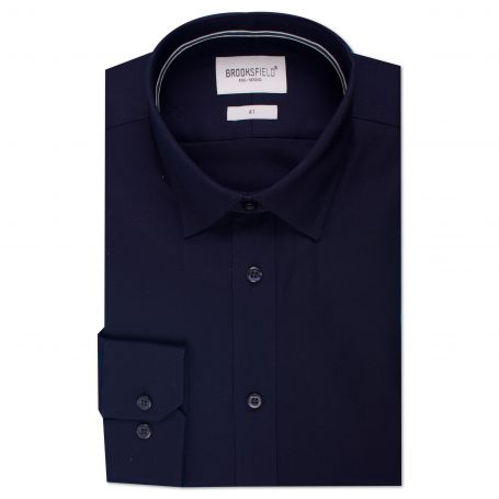 Brooksfield The Staple Navy Shirt