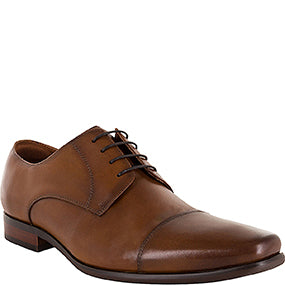 Florsheim Cross Cap Toe Tan Derby Shoe