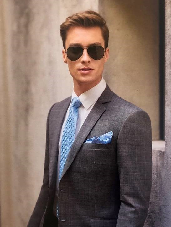 New England Eton Grey Suit