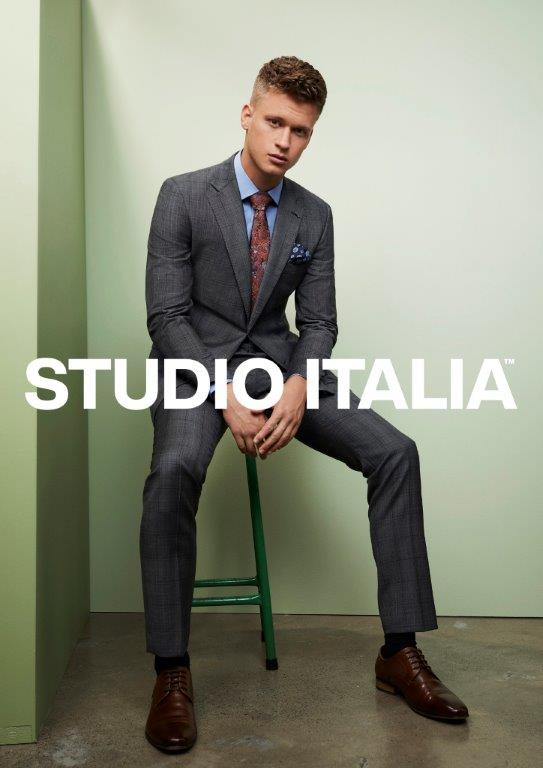 Studio Italia Florence Grey Check Suit