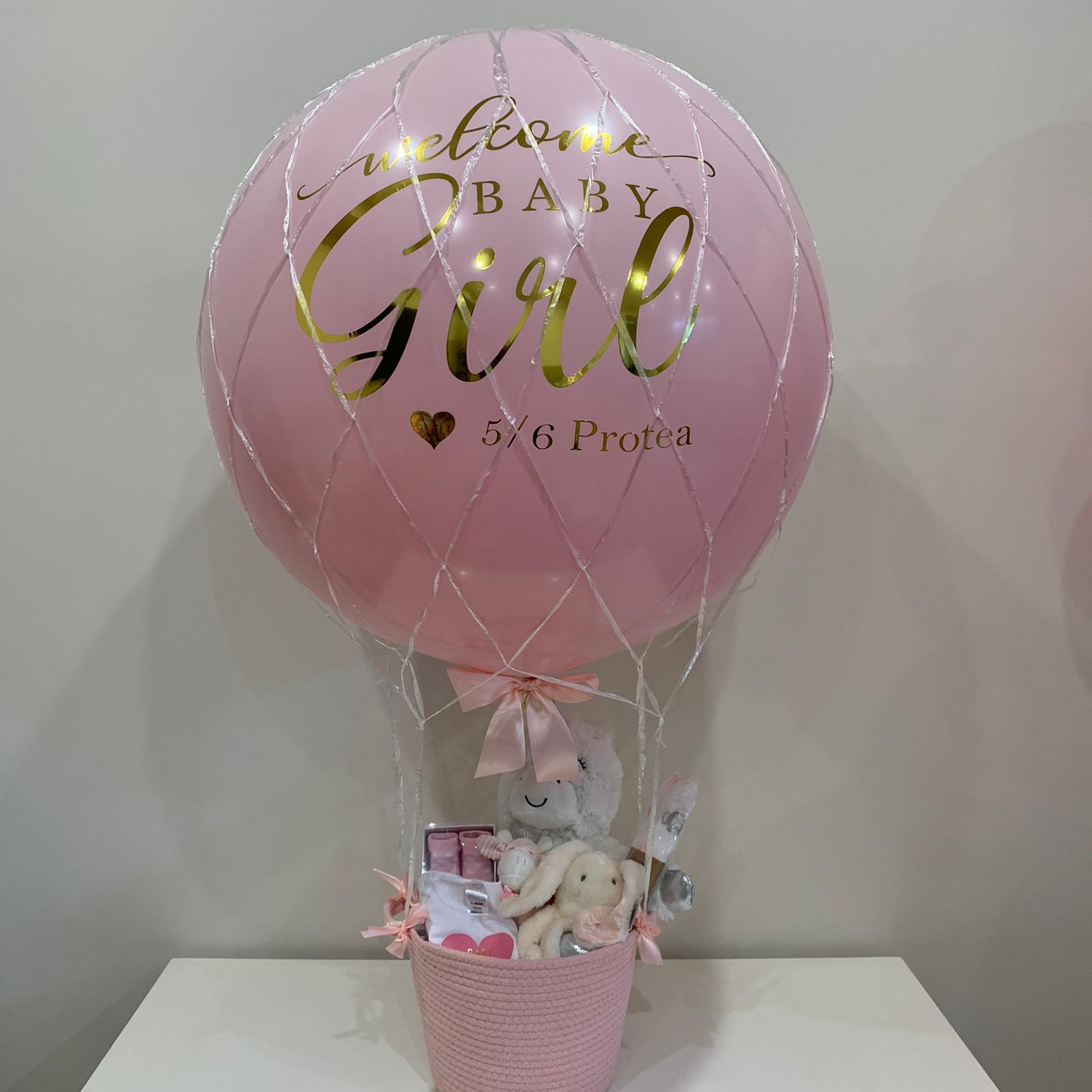 New Baby Helium Hot Air Balloon Gift With Basket Balloonit