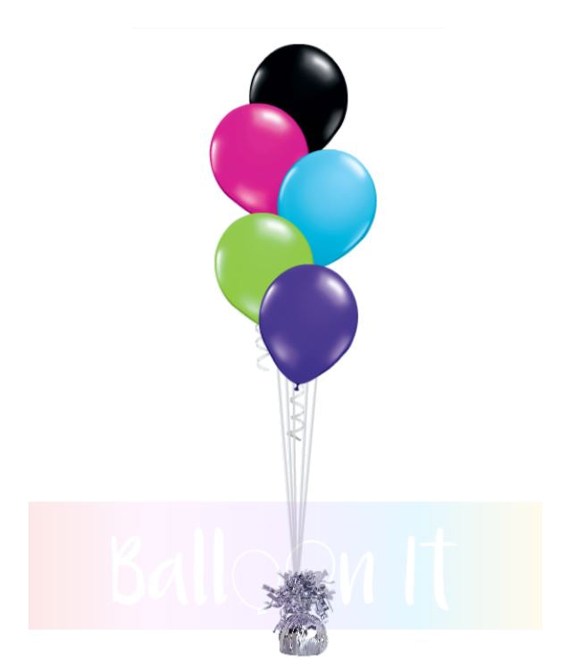 5 balloon bouquet
