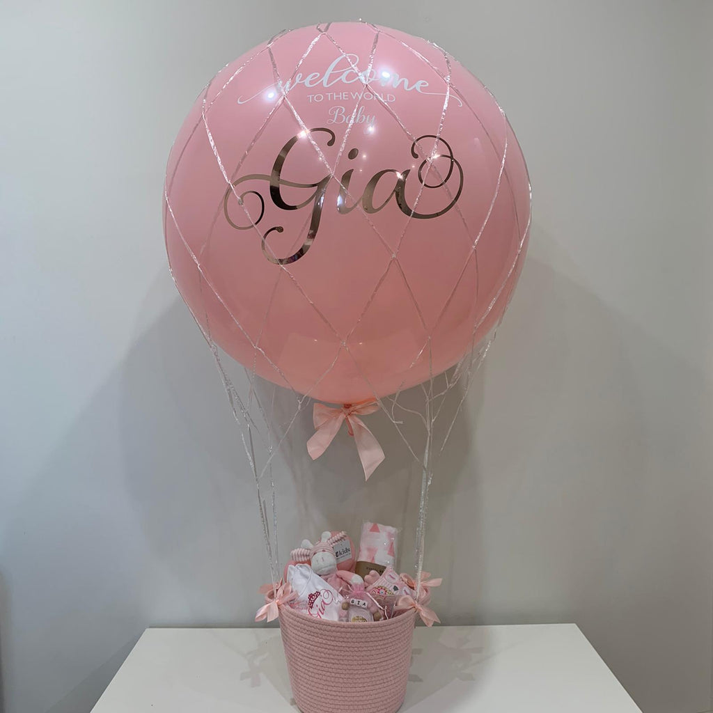 New Baby helium hot air balloon gift with basket