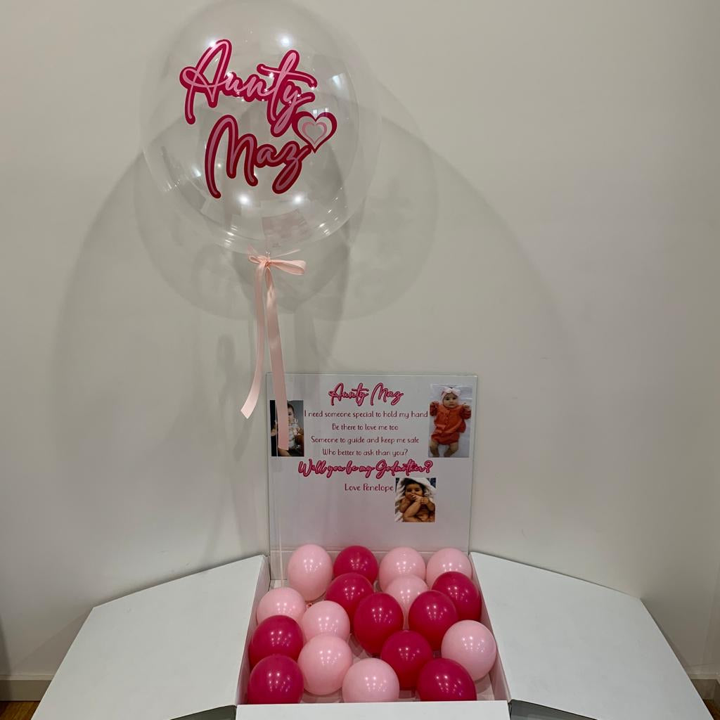 Godparent Proposal Jumbo Surprise Balloon in Box