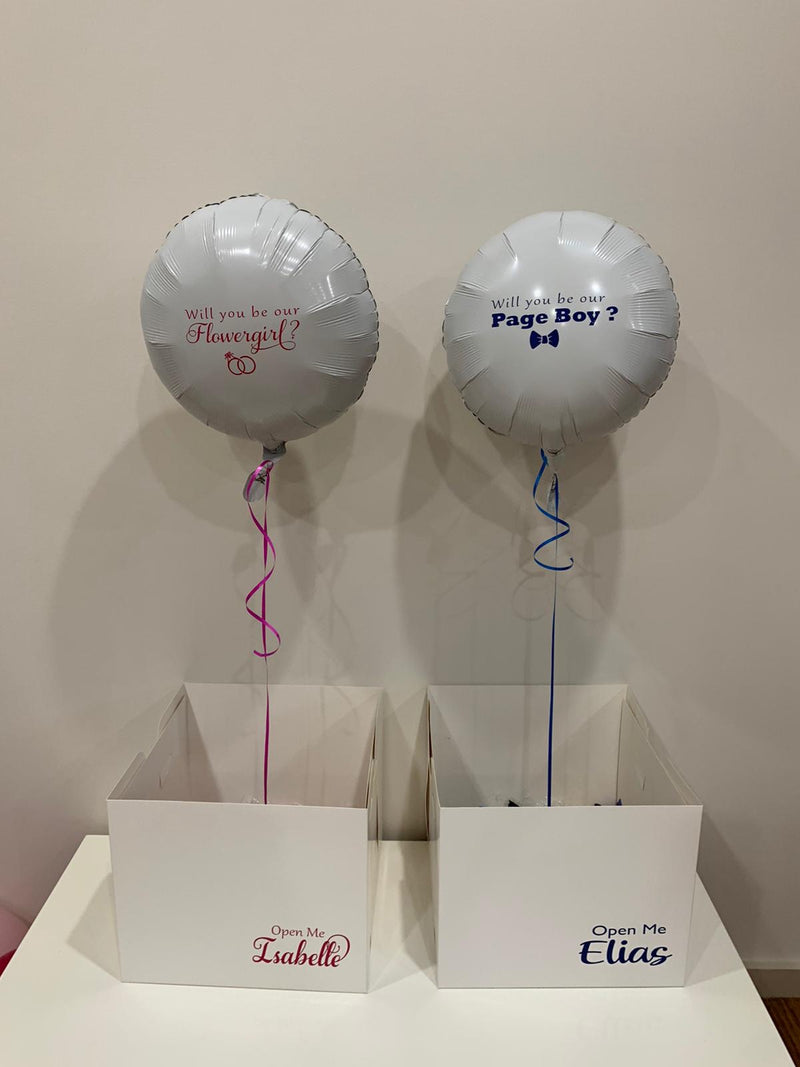 Flowergirl/Pageboy Surprise Proposal Balloon in Box