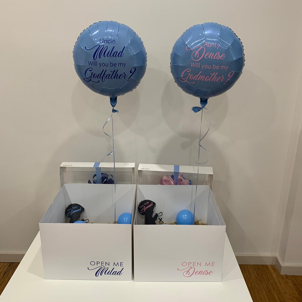 Godparent Proposal Mini Surprise Balloon in Box