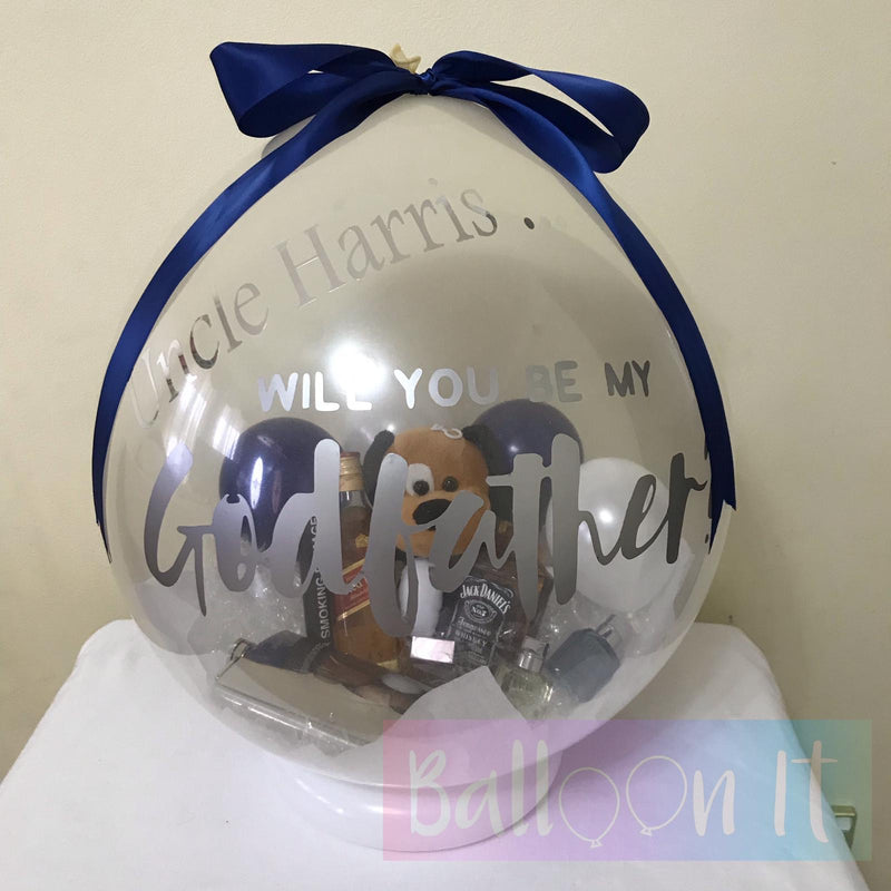 Godparent Proposal Balloon Gift
