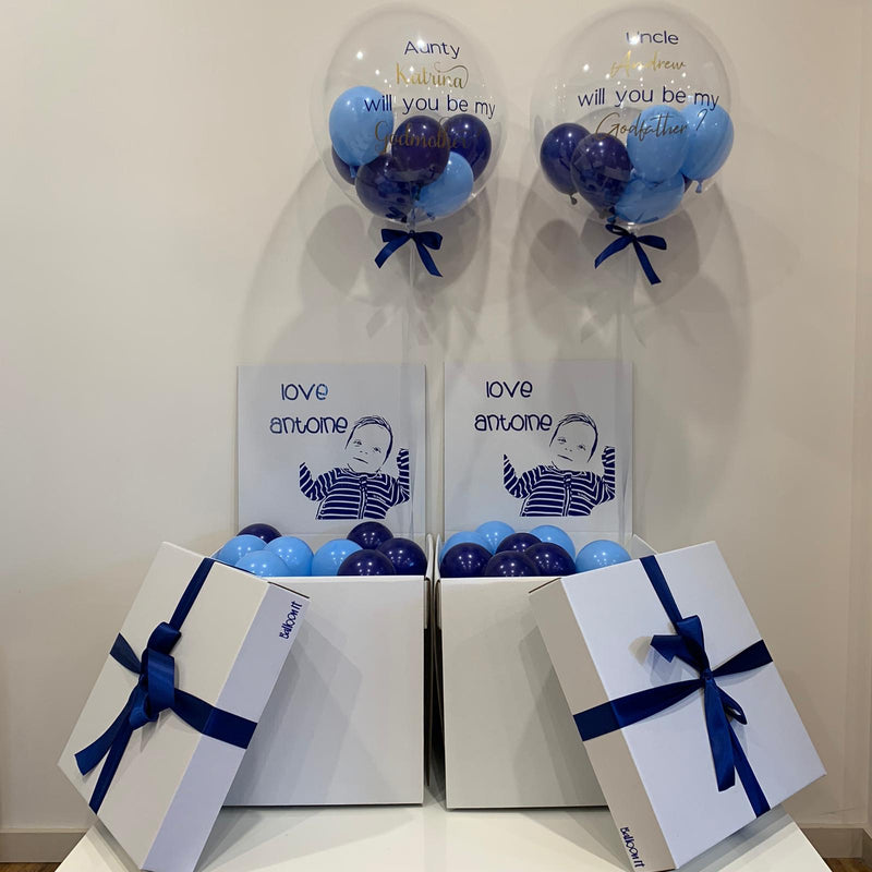 Godparent Proposal Junior Surprise Balloon in Box