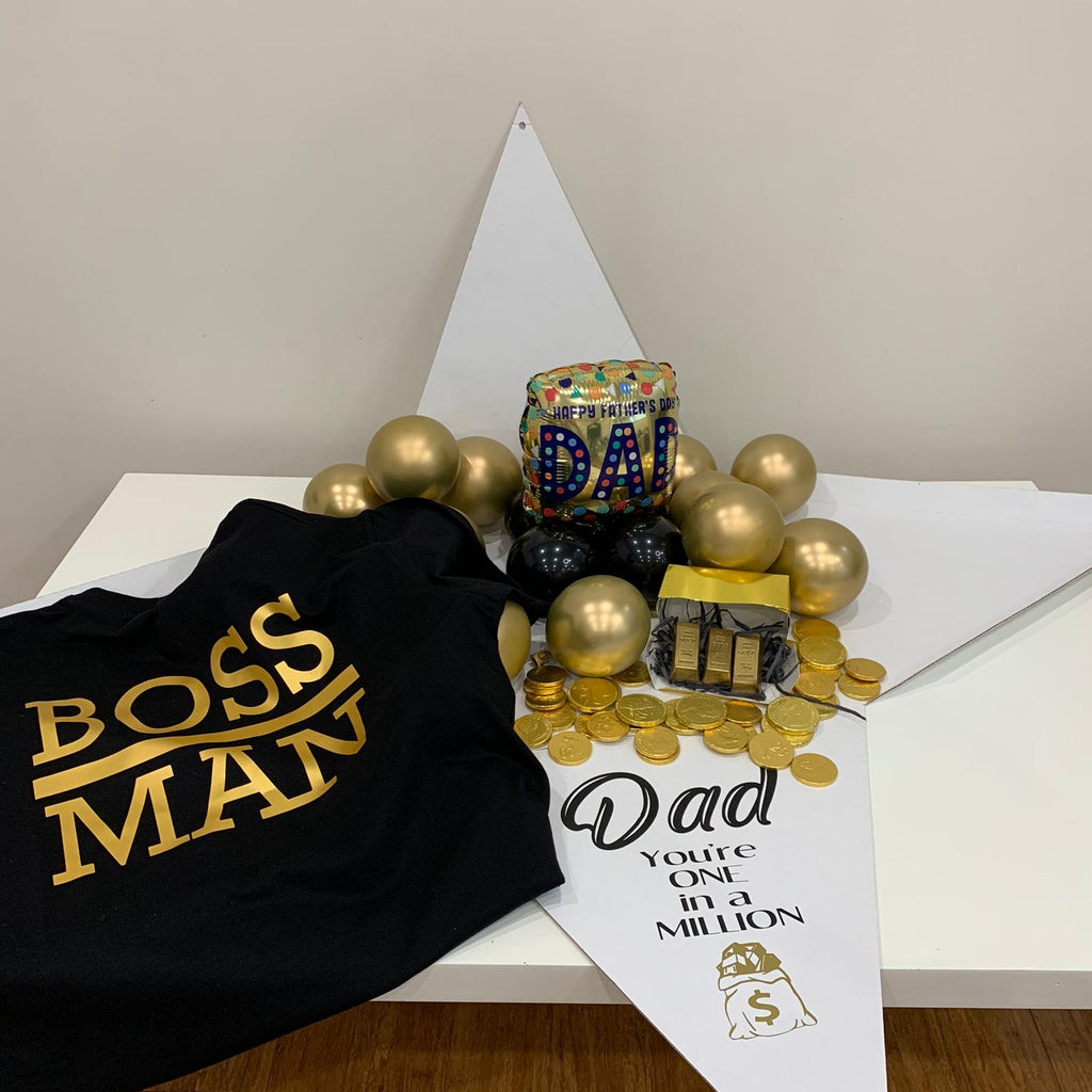 MILLION DOLLAR Dad Fathers Day Pyramid Surprise Balloon in Box