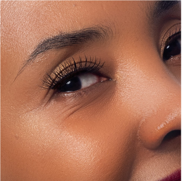 Close up of Beautiful Women of Color Sensitive Skin