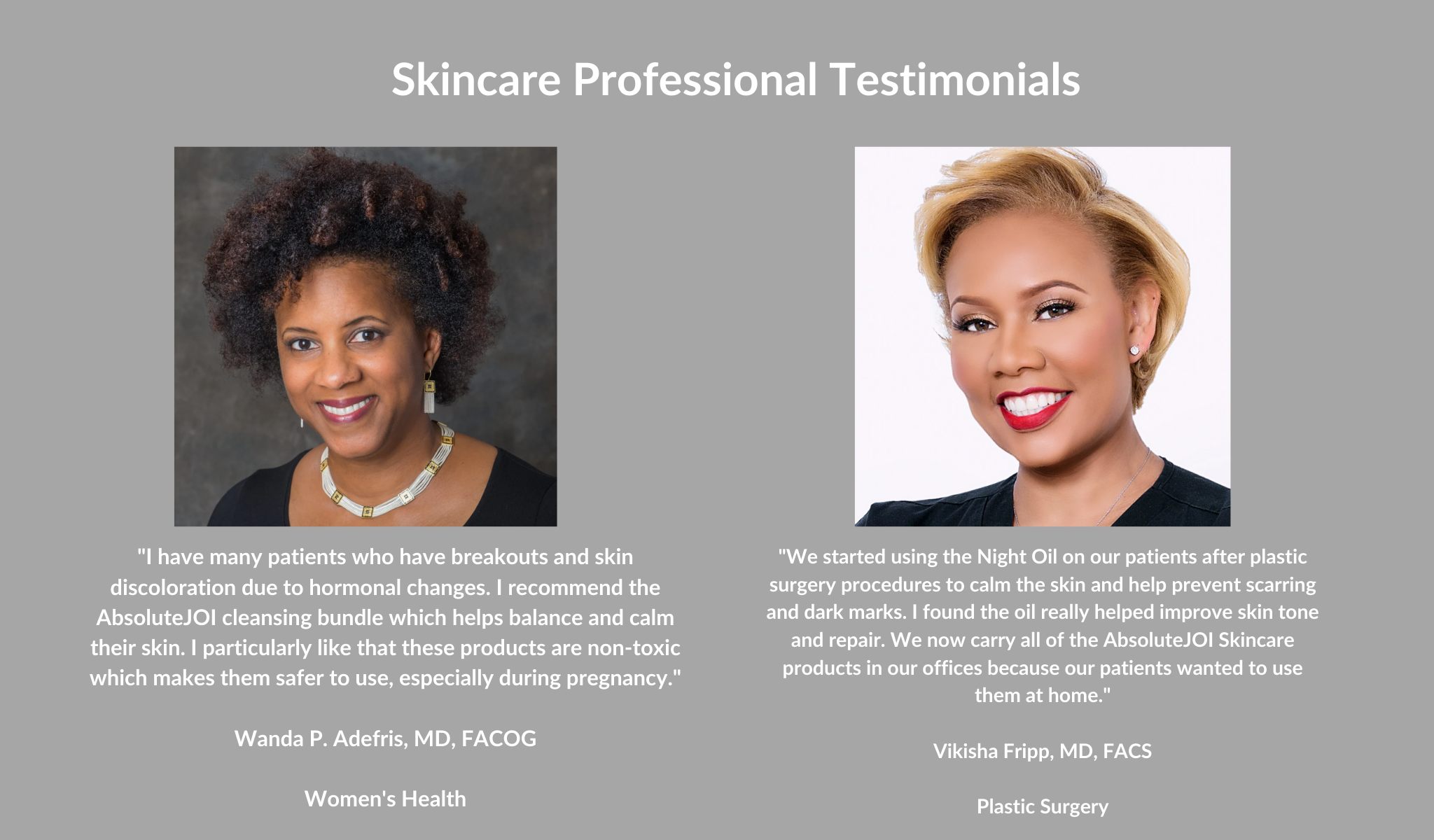 Image of Two Skincare Doctors Testimonials