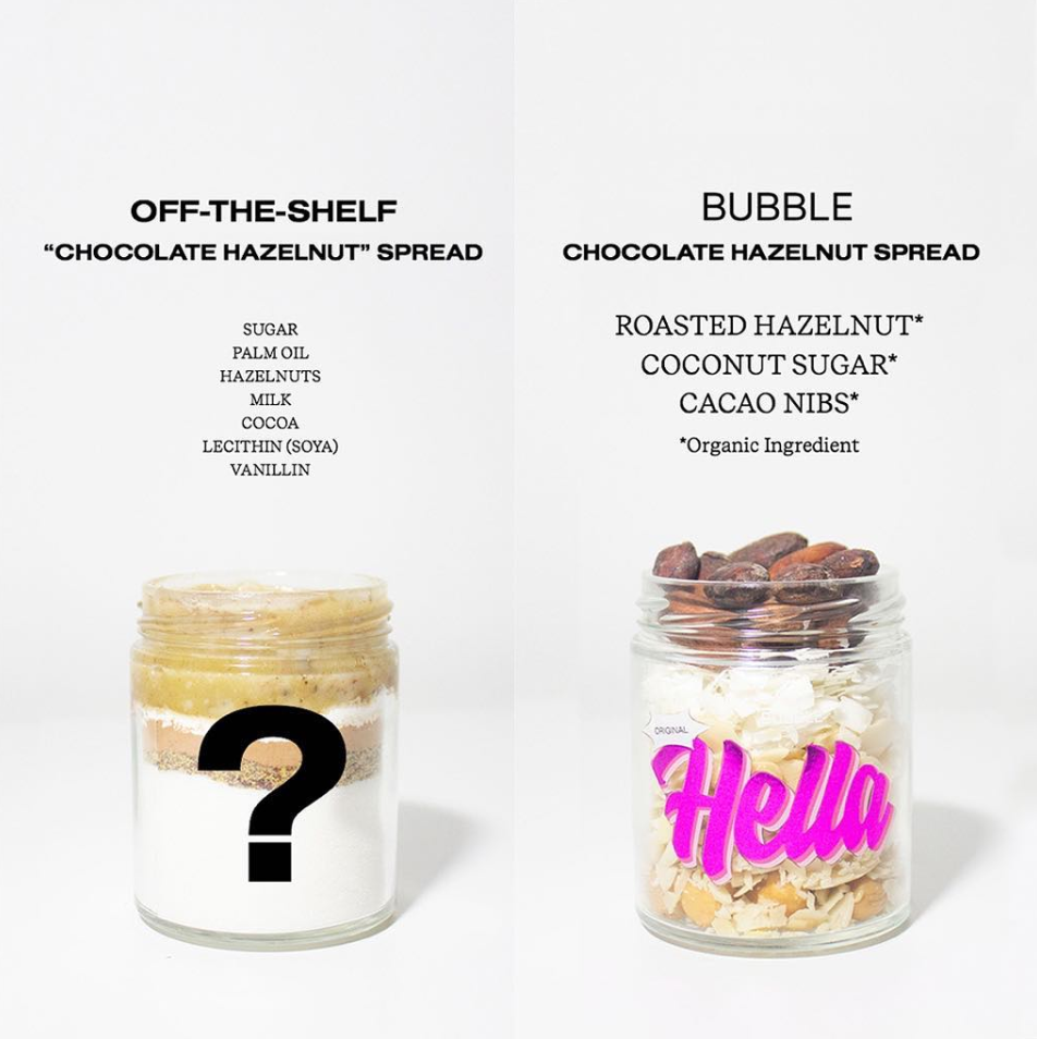 Hella vs. other nut butters