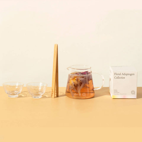 Relaxing Floral Tea + Duo Glassware Gift Set