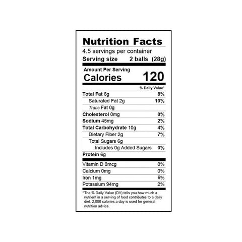 Oatmeal Cinnamon Raisin Balanced Protein Ball - 4.5oz Bag (pack)