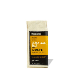 Black Lava Salt with Turmeric Dark Chocolate Bar