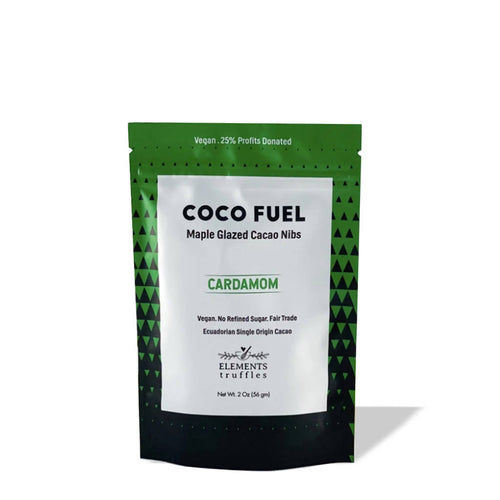 Coco Fuel Cardamom Maple Glazed Cacao Nibs (4-pack)