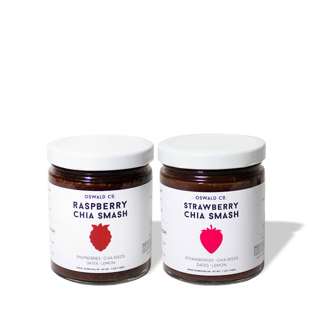 Strawberry Raspberry Chia Smash Combo (2-pack)