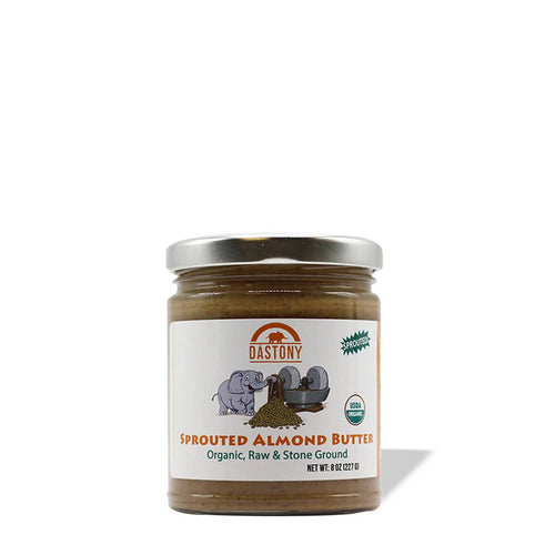 Sprouted Stone Ground Raw Almond Butter