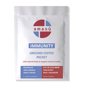 Organic Immunity Booster Herbal Ground Coffee Packets (5-pack)