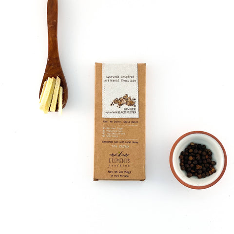 Ginger Black Pepper Infusion Dark Chocolate Bar