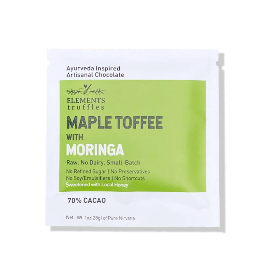 Maple Toffee Crunch with Moringa Infusion Dark Chocolate Bar (pack)