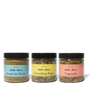 Seasoning Blend Trio: Everything Bagel, Sesame + Za'atar, Togarashi