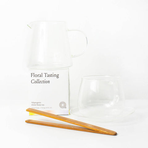 Antioxidant Floral Tea + Single Glassware Gift Set